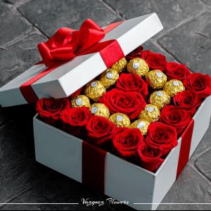 Caja Chocolates y Rosas