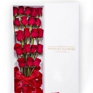 Caja con 20 Rosas