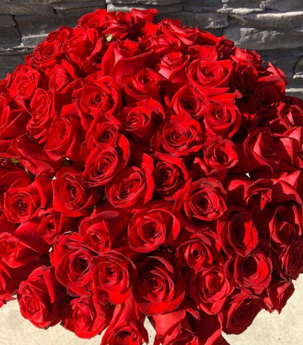 Jarron 100 rosas 2
