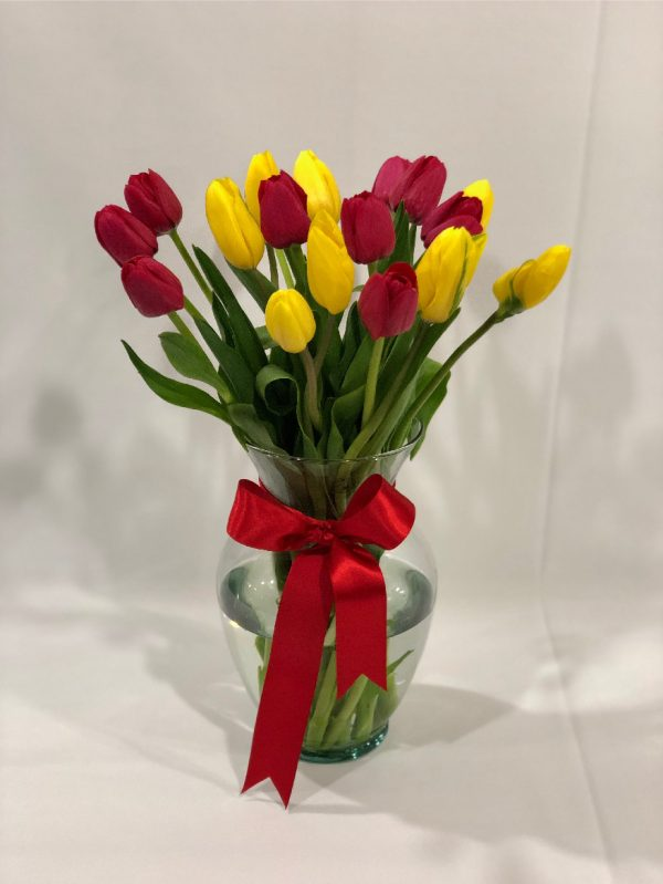 Jarron Tulipanes