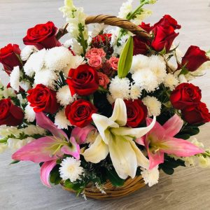 Canasta Lilys & Rosas