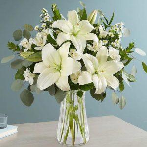 Jarron Lilys blancas