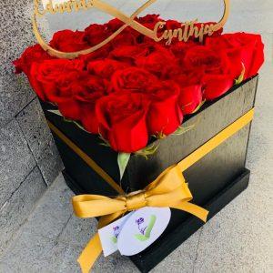 Rosas Rojas con Infinito (personalizable)