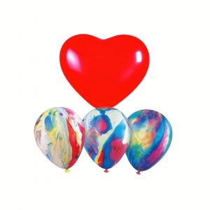 Globo Corazon con 3 Globos multicolor
